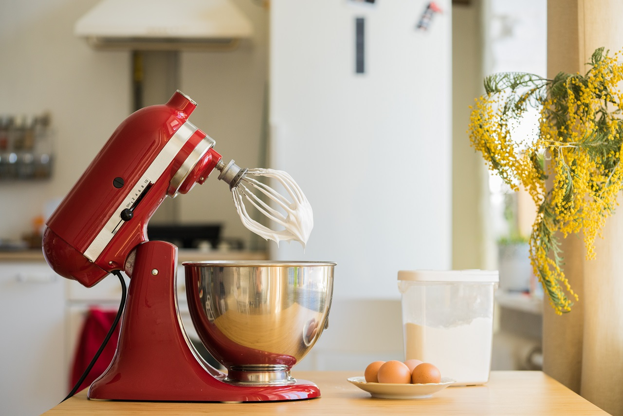 red-stand-mixer-mixing-cream