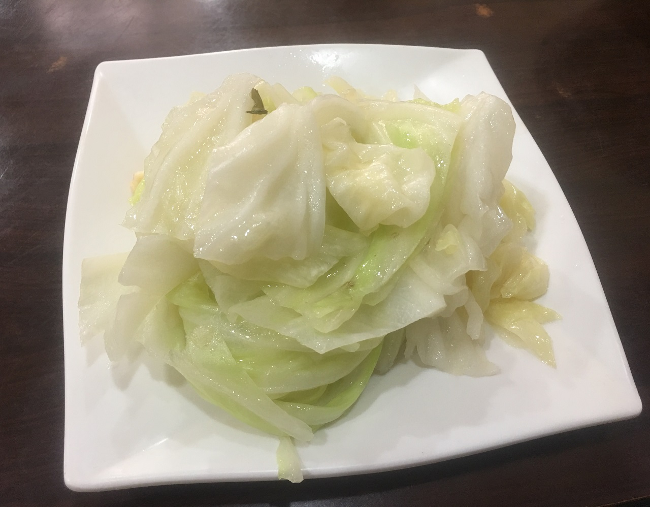 Boiled cabbage plate