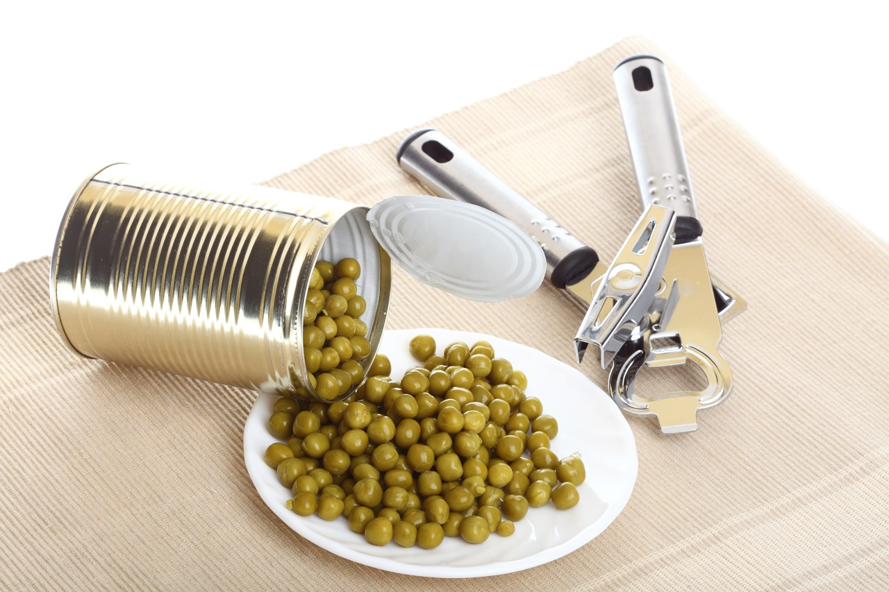 Tin-opener-opening-a-can-of-food-canned-tinned-peas